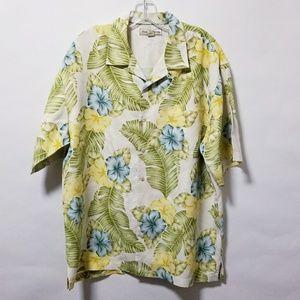 Tommy Bahama silk button print shirt